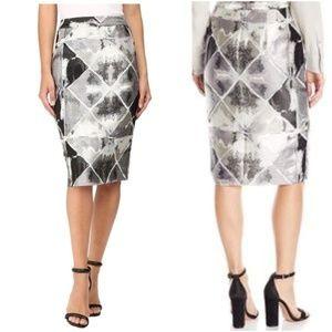 Calvin Klein | Metallic Jacquard Pencil Skirt